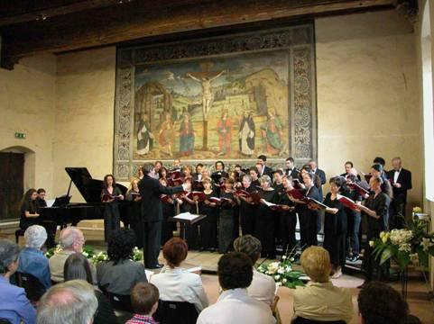Accademia durante il concerto di chiusura della IX edizione del Maggio Musicale a Saluzzo