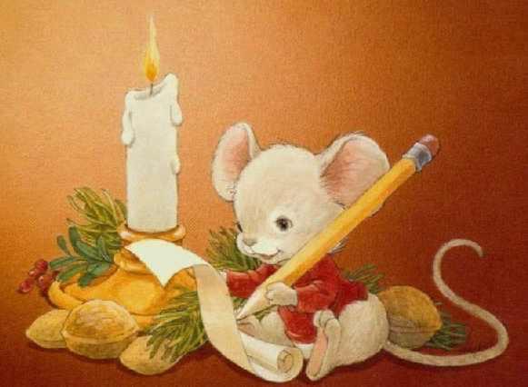 disegno di Natale (un topo per le feste)